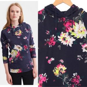 Joules Marlston Floral Hoodie   Small Size 8